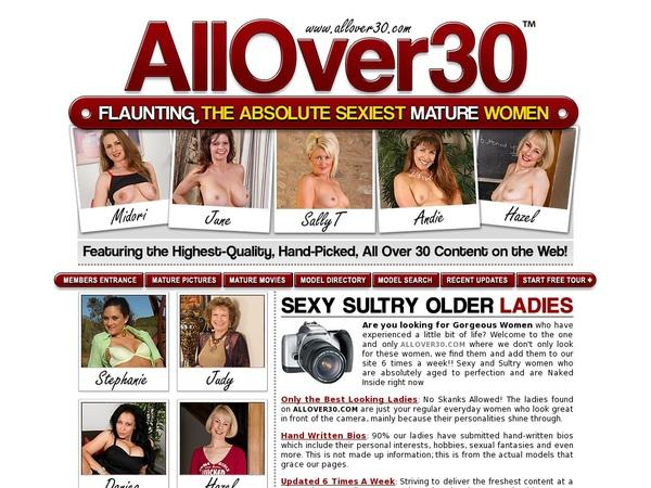 All Over 30 Original Sign Up Link