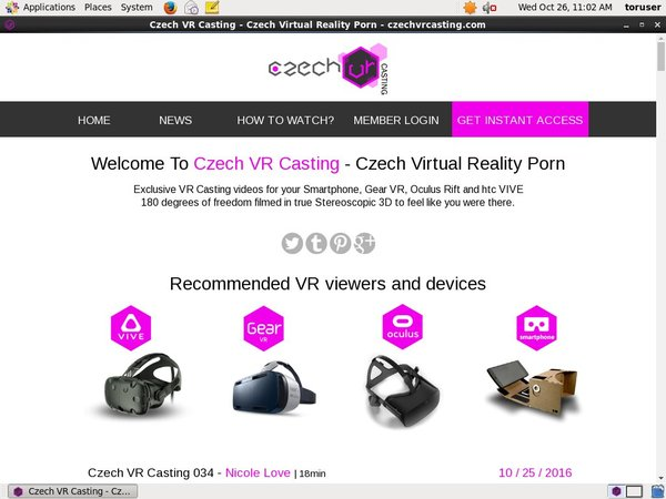 Czechvrcasting.com Limited Time Discount