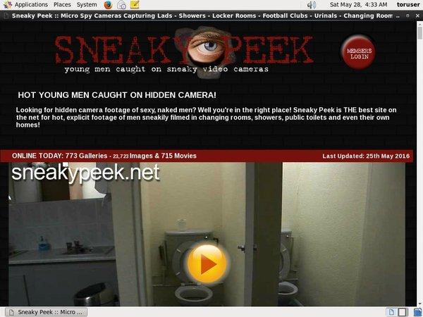 Sneaky Peek Pwds