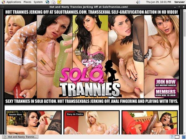 Solotrannies.com Website Accounts