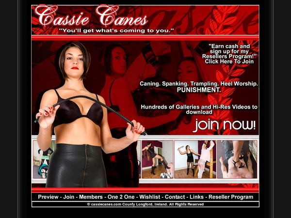 Cassie Canes Discount Page