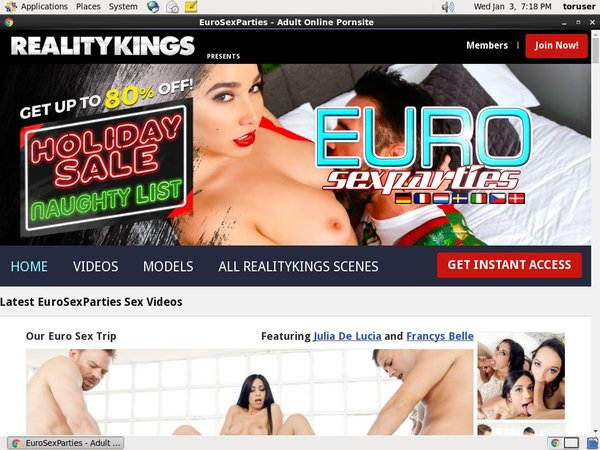 Free Working Euro Sex Parties Account
