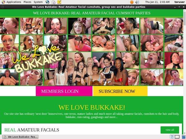 We Love Bukkake Clip Cash